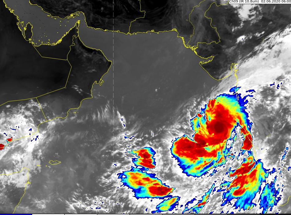 الأرصاد: تطور الحالة المدارية في شرق بحر العرب إلى  منخفض عميق