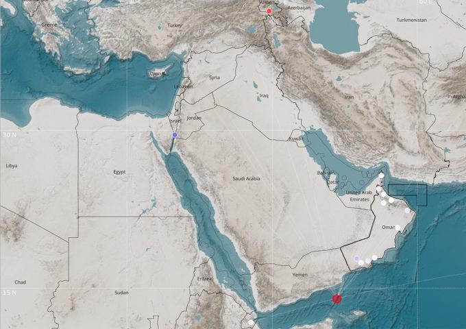 Earthquake hits Gulf of Aden