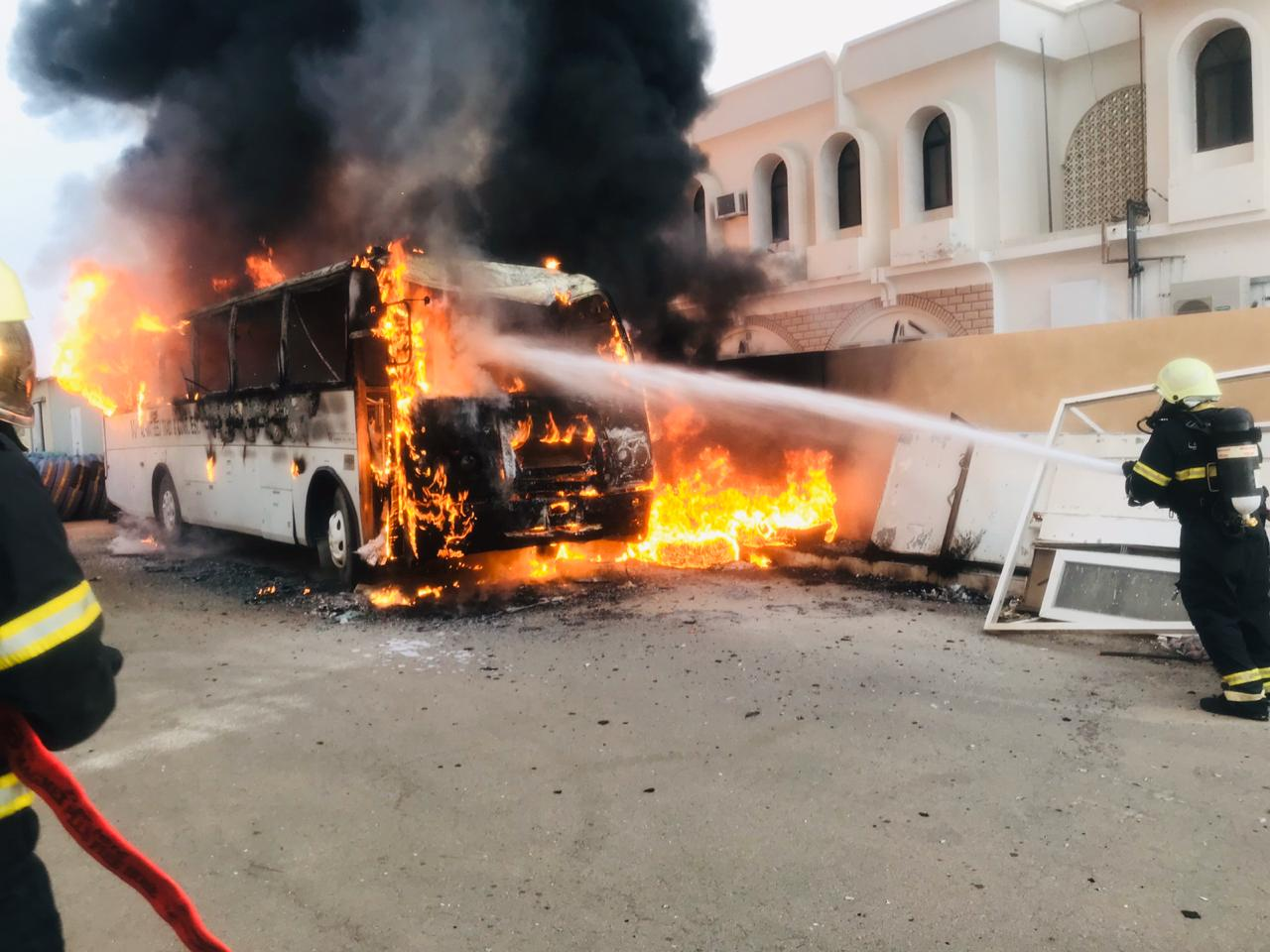 Fire breaks out at transport company