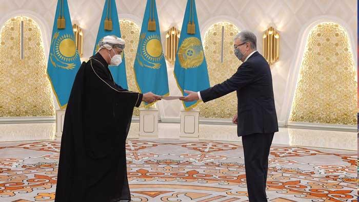 Oman ambassador conveys HM's greetings to Kazakhstan President