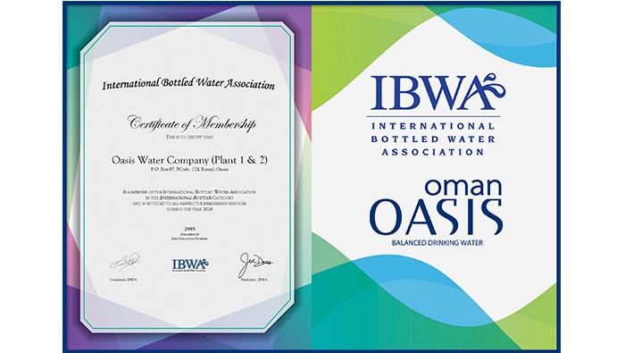 Oman Oasis receives prestigious IBWA membership certificate