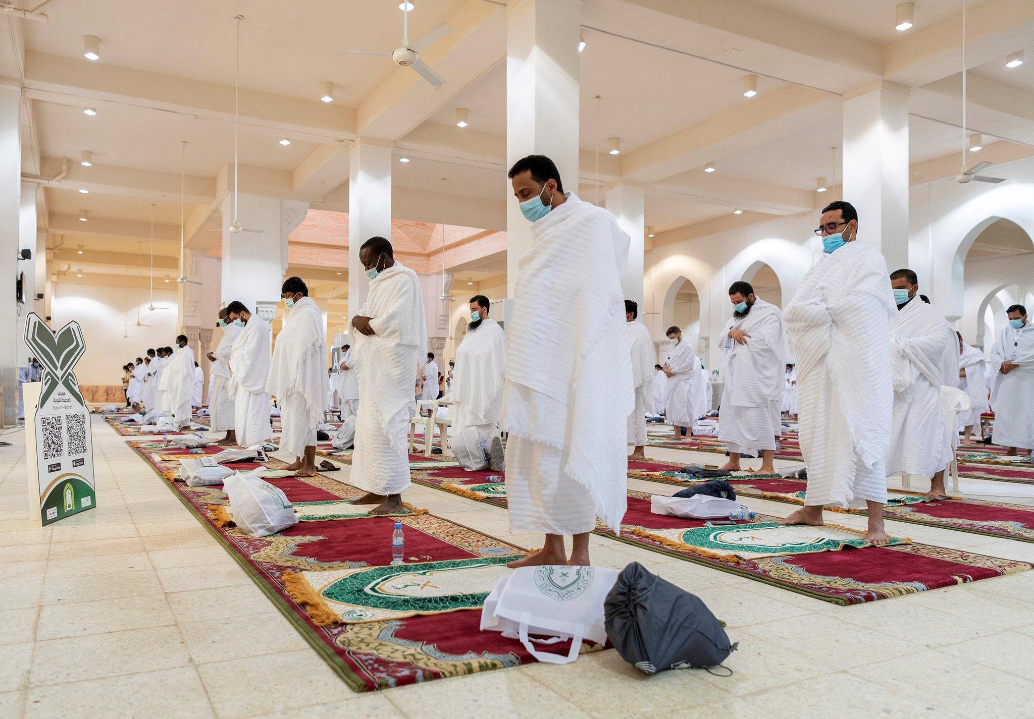 Pilgrims perform Haj rituals