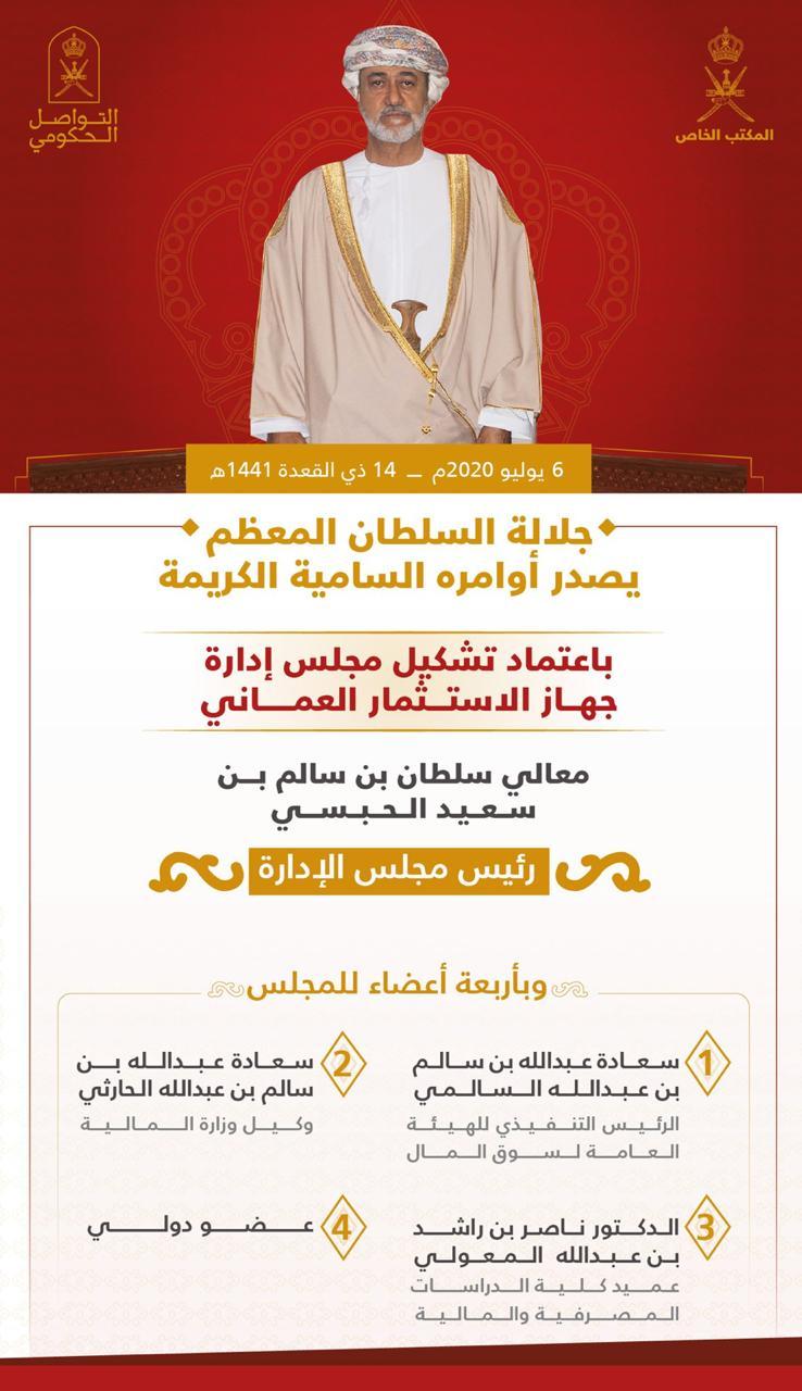 جلالة السلطان يصدر أوامر سامية