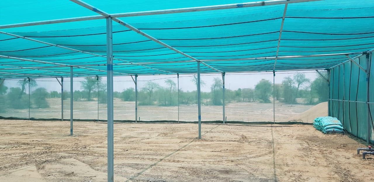 مظلة لتجميع الشتلات الزراعية بالكامل والوافي