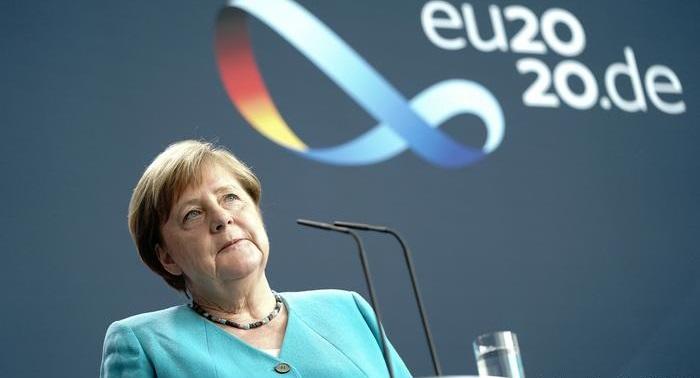 Germany's Angela Merkel in Brussels for talks on EU coronavirus recovery