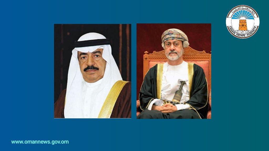 عبر الاتصال الهاتفي: جلالة السلطان يستعرض العلاقات الأخوية مع  رئيس وزراء البحرين