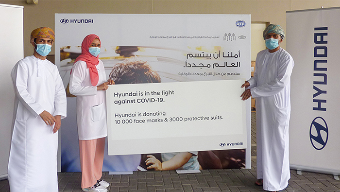 Hyundai donates personal protection items to Oman to help fight COVID-19