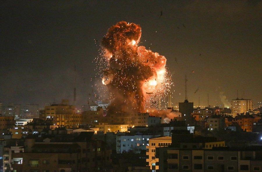 سلسلة غارات إسرائيلية على غزة