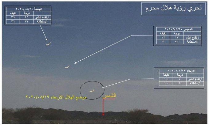 الشؤون الفلكية: رؤية هلال محرم ممكنة الأربعاء
