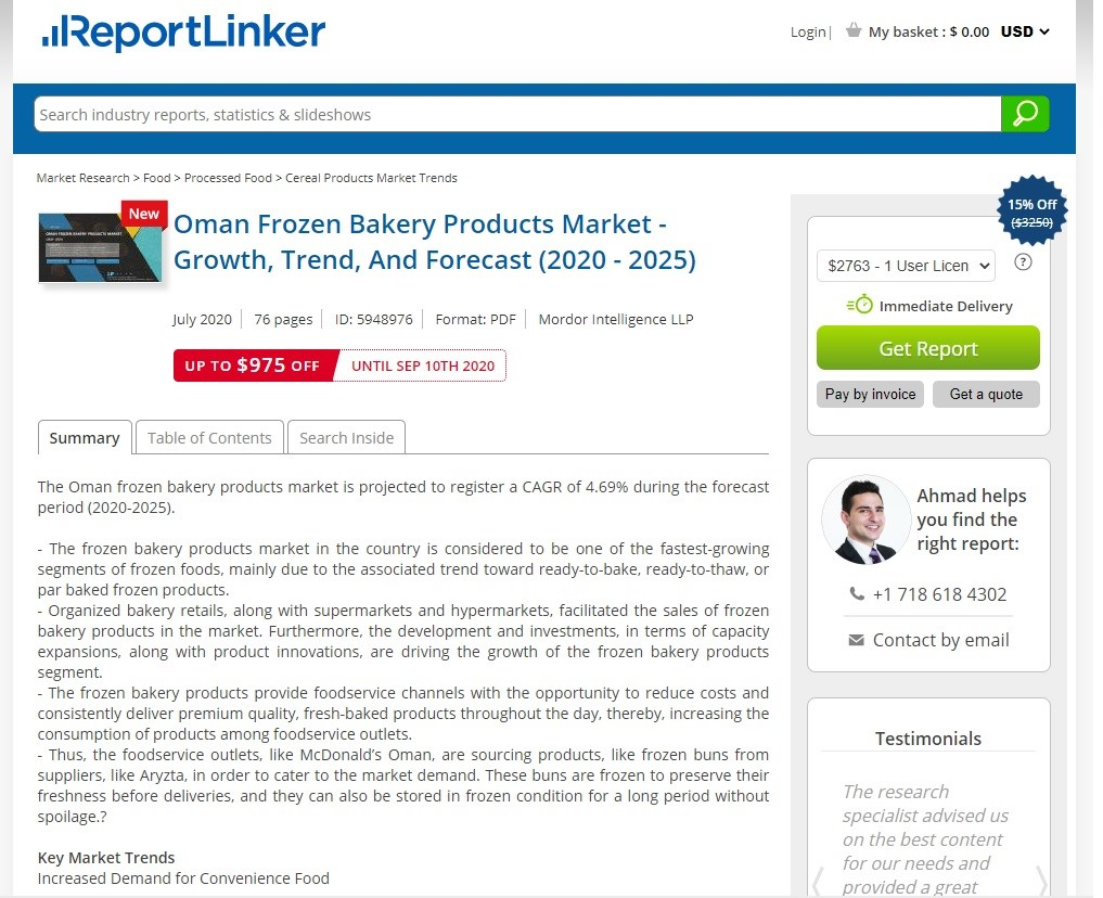 Frozen baked products market in Oman set to grow