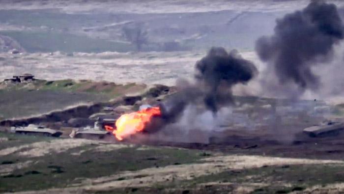 Nagorno-Karabakh declares martial law as violence erupts