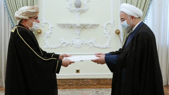 Oman's ambassador to Iran submits credentials