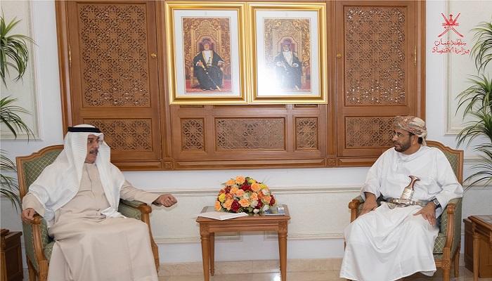 Oman's Minister of Economy meets UAE Ambassador