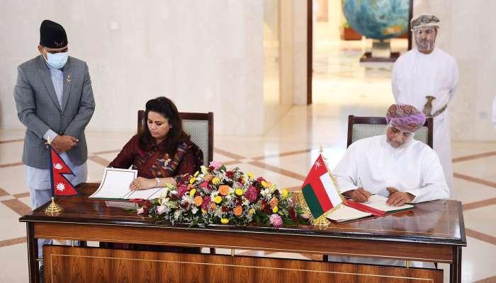 Oman, Nepal sign pact for mutual waiving of visas