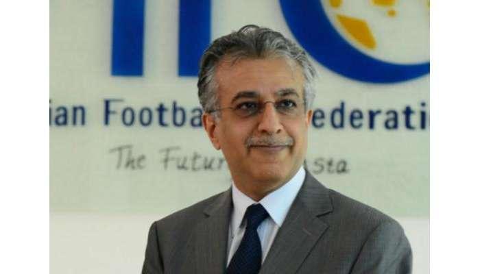 رئيس الاتحاد الآسيوي لكرة القدم  يهنئ نادي السيب على فوزه التاريخي بدوري عمانتل