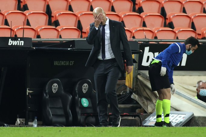 Zidane takes full responsibility of loss against Valencia