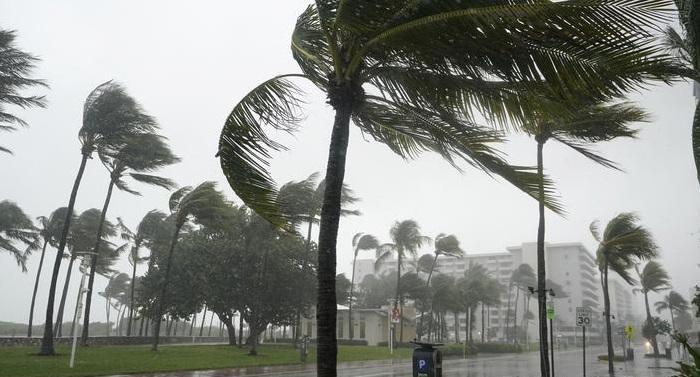 Tropical storm Eta strikes southern Florida