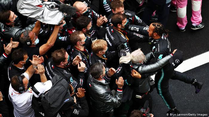 Lewis Hamilton equals Schumacher's record with seventh world title