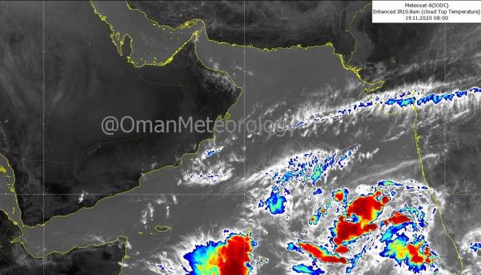 Tropical depression in the Arabian Sea