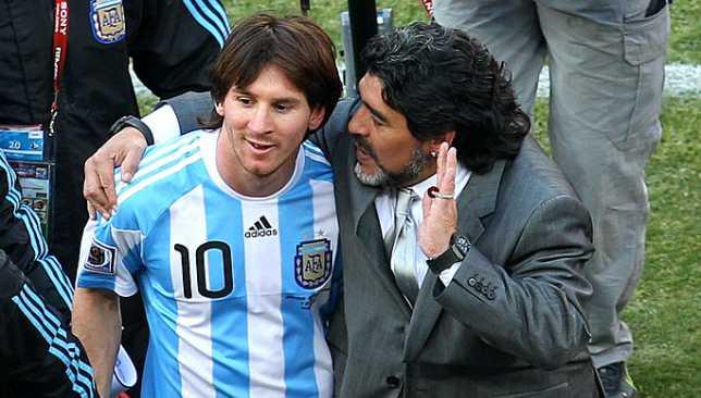 ميسي ينعى مارادونا