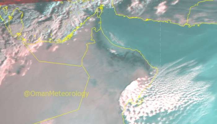 Chances of rainfall over parts of Oman