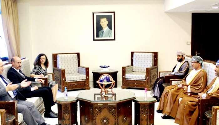 سفيرنا في سوريا يلتقي وزير الخارجية والمغتربين الجديد