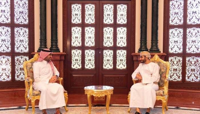 السيد ذي يزن يلتقي رئيس اللجنة الأولمبية السعودية