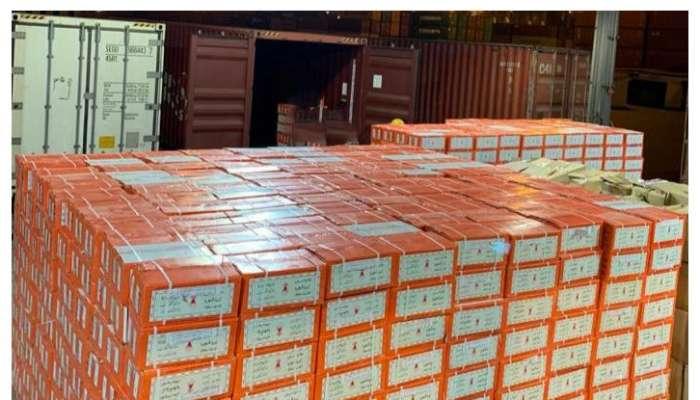جمارك ميناء صحار تحبط عملية تهريب أكثر من 20000 كيلوجراماً من التبغ المدخن