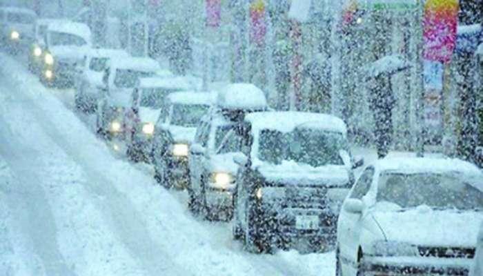 عاصفة ثلجية تصيب حركة النقل في اليابان بالتوقف