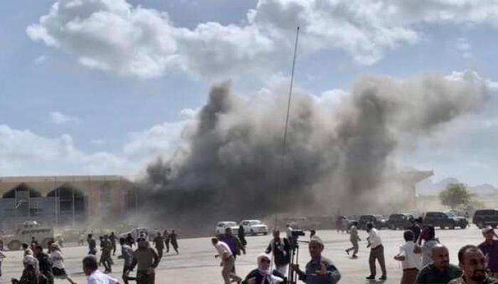 سماع دوي انفجار آخر قرب قصر معاشيق الذي انتقلت إليه الحكومة اليمنية