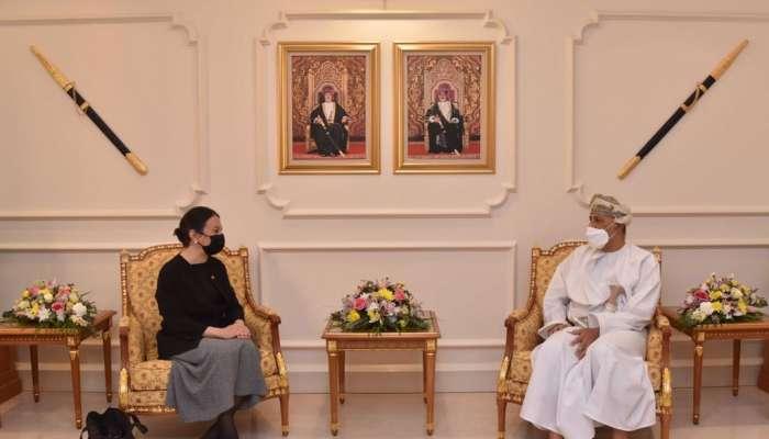 السيد شهاب يستقبل سفيرة جمهورية تركيا المعتمدة لدى السلطنة
