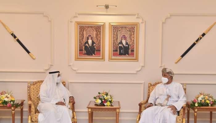 السيد شهاب بن طارق يستقبل الأمين العام لـمجلس التعاون لدول الخليج