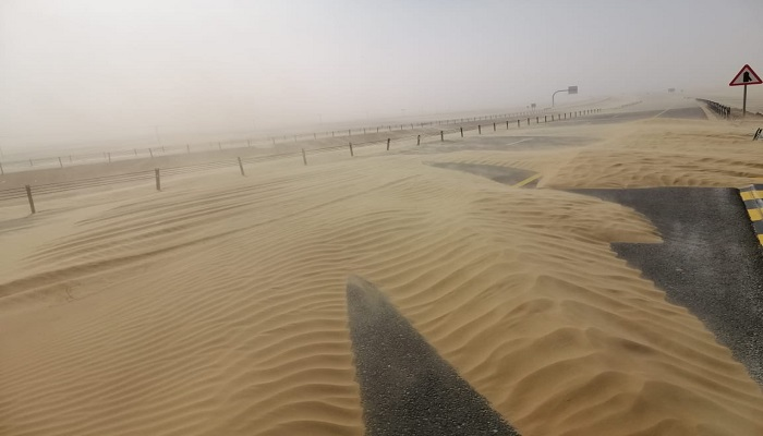 Wind speed exceeding 20 knots at some parts of Oman