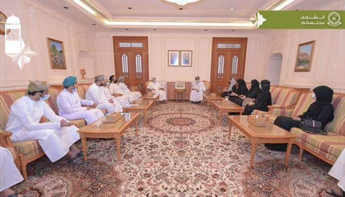 رئيس مجلس الشورى يستقبل مجموعة من خريجي تخصص علم الاجتماع