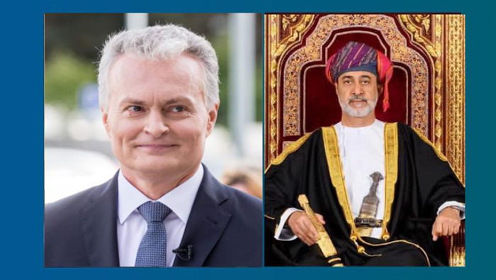His Majesty greets President of Lithuania