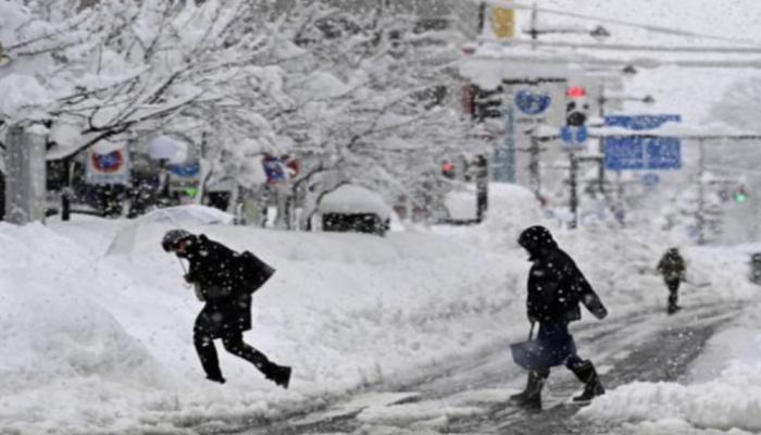 عاصفة ثلجية شديدة تقترب من اليابان