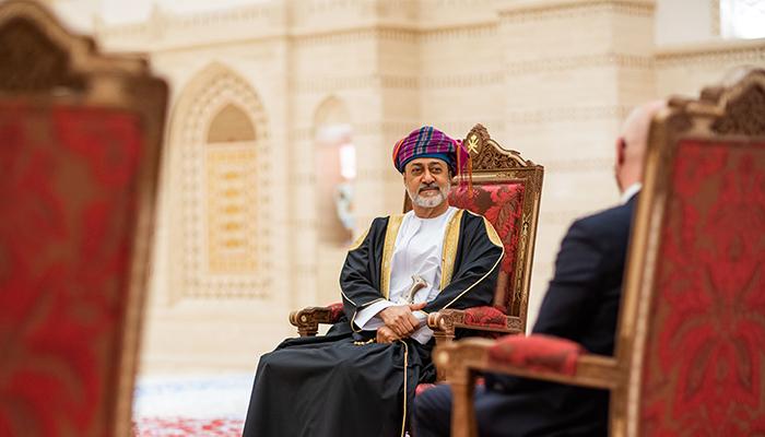 His Majesty receives Ambassadors' Credentials