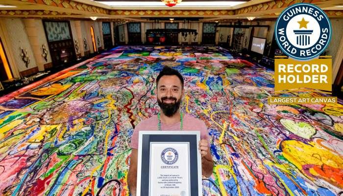 أكبر لوحة فنية على القماش في العالم للدخول في 'غينيس'