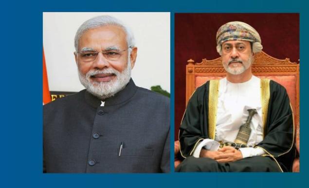 جلالة السلطان يجري اتصالًا هاتفيًا مع رئيس وزراء جمهورية  الهند