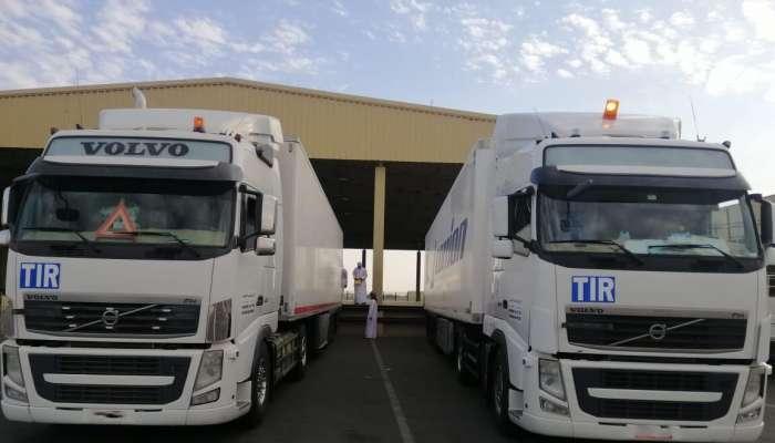 انطلاق أول شحنة بنظام النقل البري الدولي التير