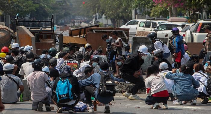 Demonstrators shot dead in anti-coup protests in Myanmar