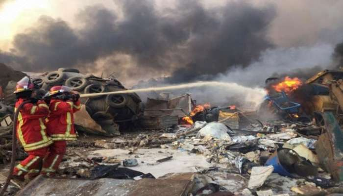 مصرع شخص و4 جرحى جراء انفجار في مدينة طرابلس شمال لبنان