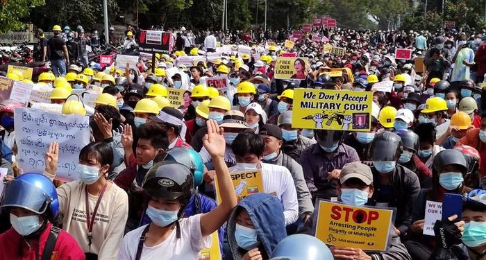 Two killed after police crack down on protests in Myanmar