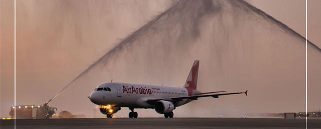 مطار مسقط  يرحب بتدشين أولى رحلات 'طيران العربية مصر' من القاهرة