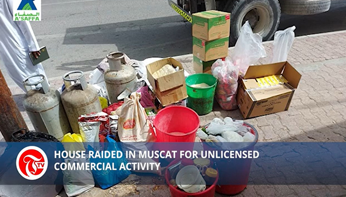 House raided in Muscat for unlicensed commercial activity