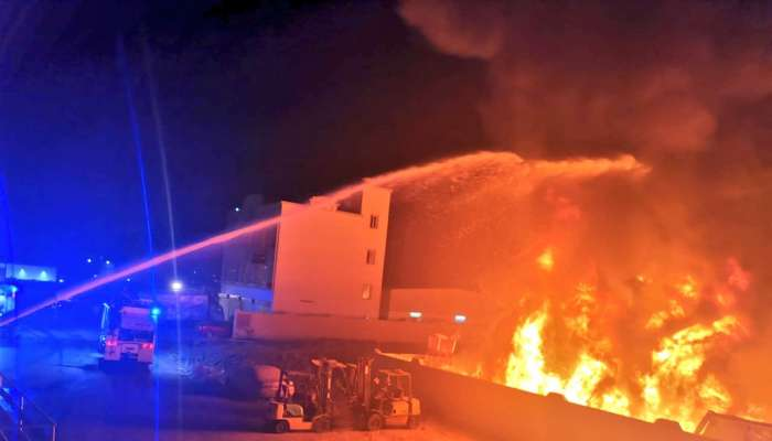 Fire extinguished at a warehouse in Oman