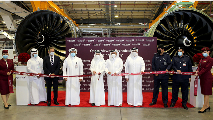 Qatar Airways celebrates opening of new state-of-the-art engine facility