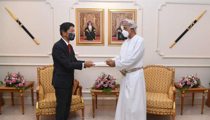 Sayyid Shihab receives written message from Japanese Defence Minister