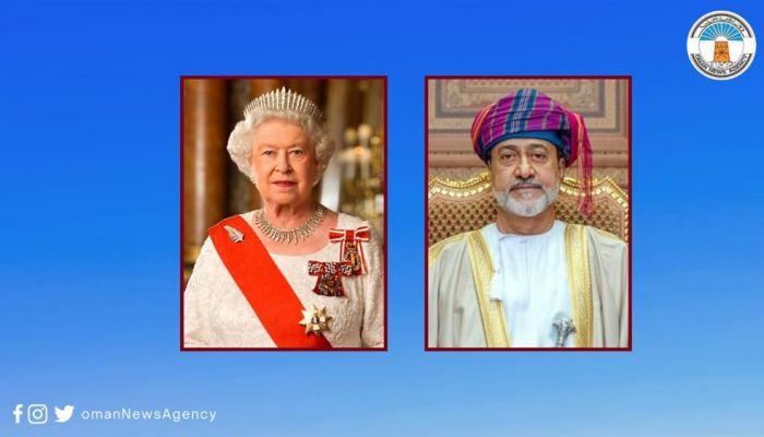 جلالة السلطان يهنئ جلالة الملكة إليزابيث الثانية