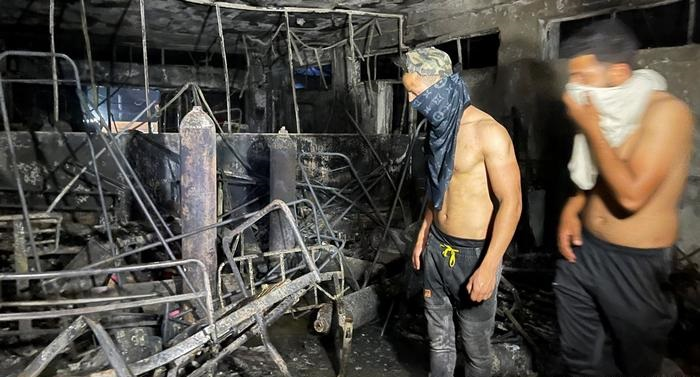 Fire at Baghdad COVID hospital kills scores of patients